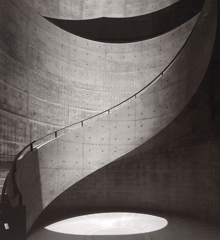 TADAO ANDO, HYOGO PREFECTURAL MUSEUM OF ART: stairwell.