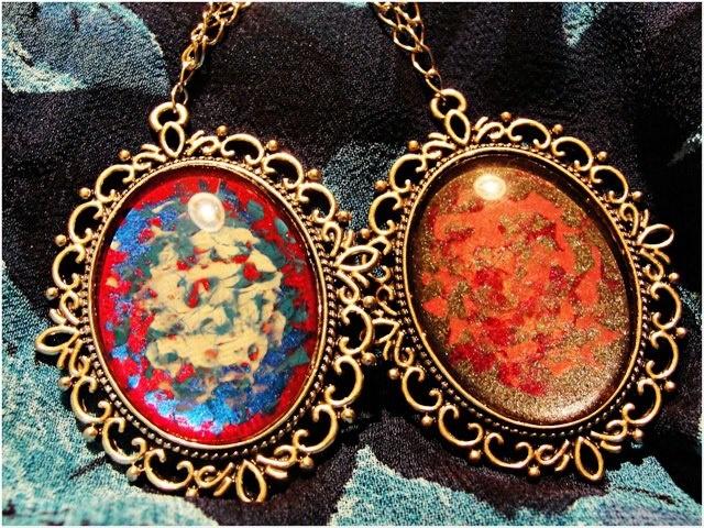 colorful pendants
