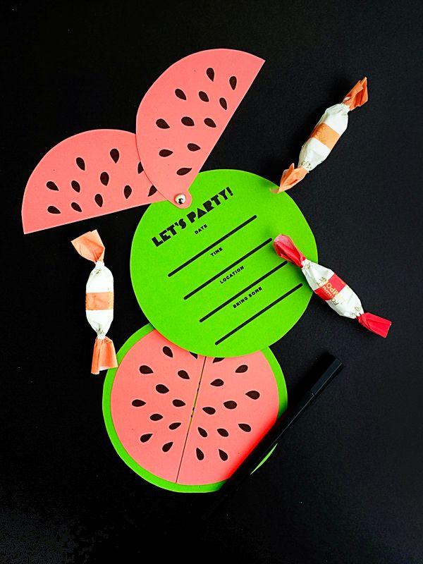 Free Printable Watermelon Invites
