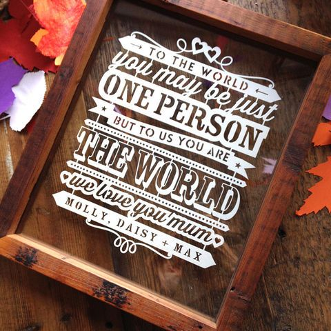 Mum Quote Personalised Papercut