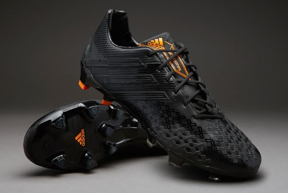 adidas Football Boots - adidas Predator LZ TRX FG - Firm Ground - Soccer Cleats - Black-Black-Solar Zest - Size UK 12
