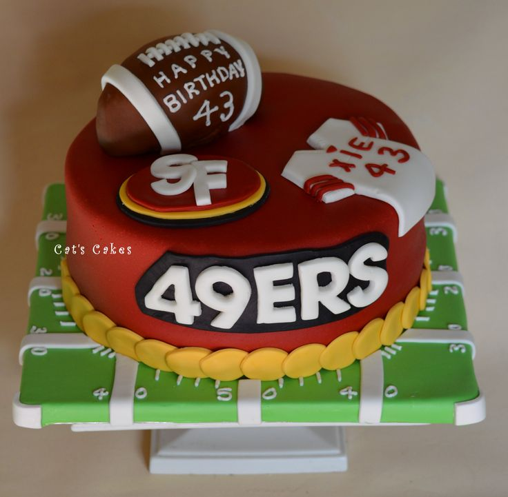 Birthday Cake Design San Francisco : 48 best 49ers Cakes images on Pinterest 49ers cake ...