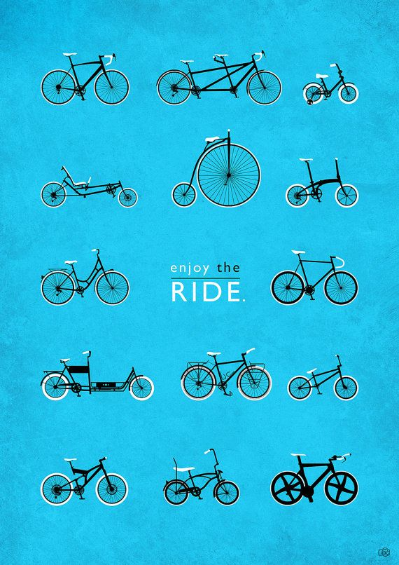 Bicycle Art Print – Love Cycling – Cycling Prints – Cycling gift – Bicycle wall Art – Cycling Gift – Gift for men who have everything