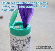 Voici une astuce pour créer sans rien acheter un distributeur maison de sacs en plastique.  Découvrez l'astuce ici : http://www.comment-economiser.fr/ranger-sacs-plastiques.html?utm_content=buffer327b9&utm_medium=social&utm_source=pinterest.com&utm_campaign=buffer