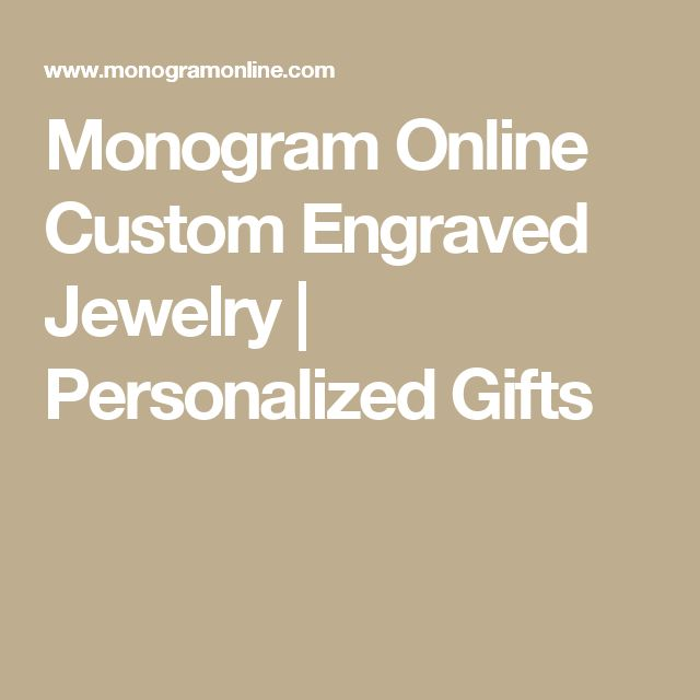 Monogram Online Custom Engraved Jewelry | Personalized Gifts