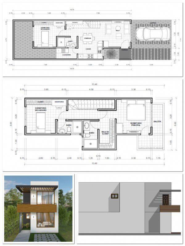 Planos De Casas De Dos Pisos Con Medidas Housearchitecture House Architecture Design Architecture House Diy Tiny House Plans