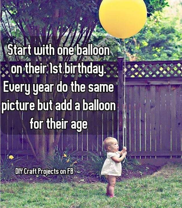 Photo idea: Add a balloon with the age