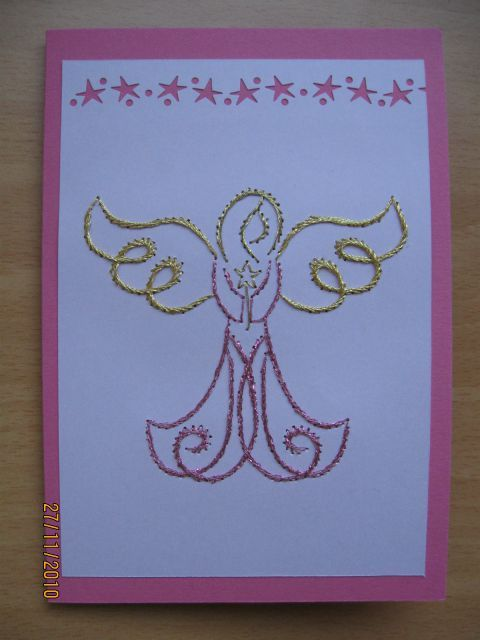 Stitching card - Angel by Janja Zomer