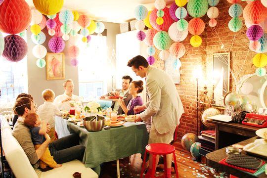 honeycomb paper decorations via love, taza