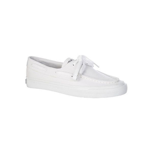 Sperry Womens Biscayne Boat Shoes (717.640 IDR) ❤ liked on Polyvore featuring shoes, loafers, white, white boat shoes, sperry shoes, fleece-lined shoes, boat shoes and white deck shoes