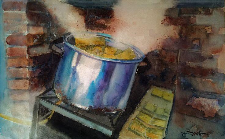 Humitas en la Olla II /watercolour