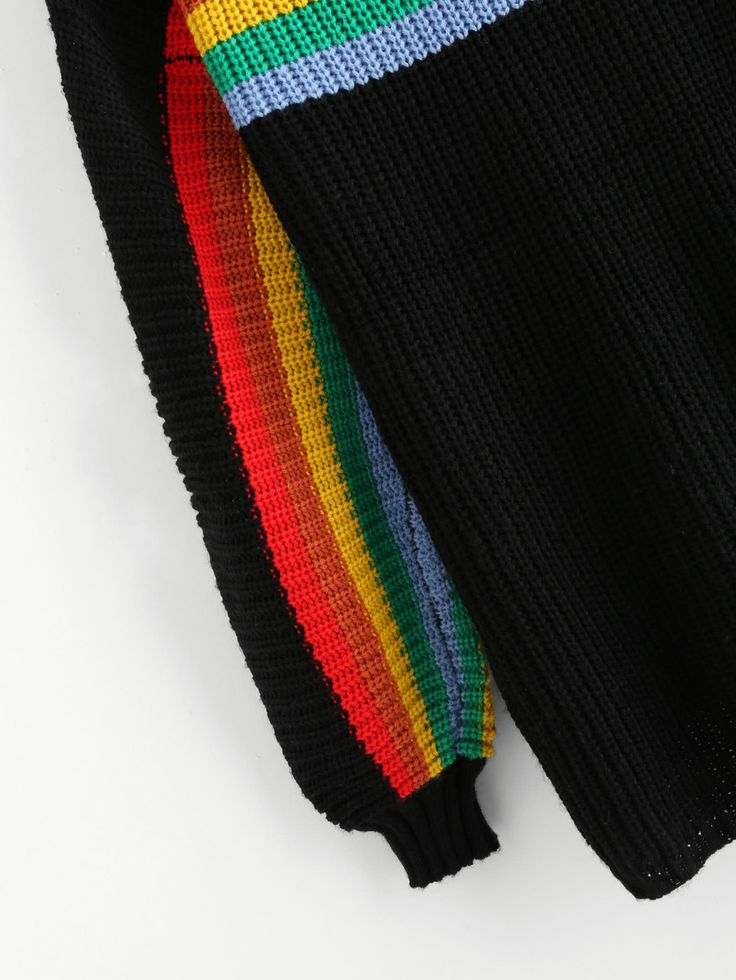 Shop Lantern Sleeve Rainbow Striped Jumper online. SheIn offers Lantern Sleeve Rainbow Striped Jumper & more to fit your fashionable needs.