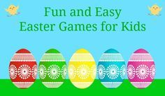 Click for Five Fun & Easy Easter Games for Kids! www.mykidsguide.com/easter-games-for-kids/ #Easter #games #MyKidsGuide