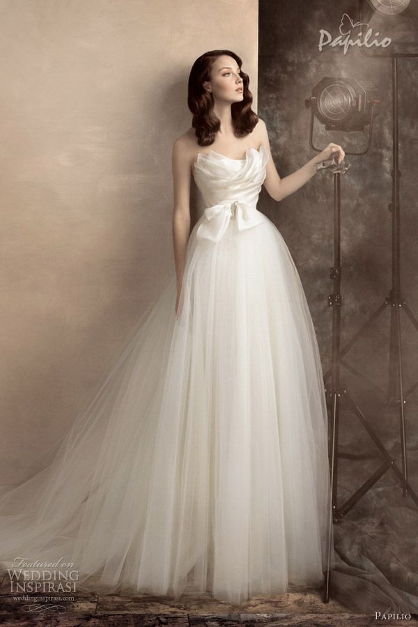 papilio wedding dresses 2013 scarlett strapless bridal gown