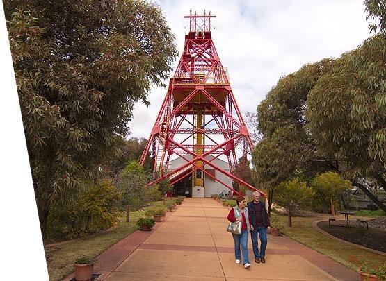 Western Australian Museum, Kalgoorlie - red headframe.