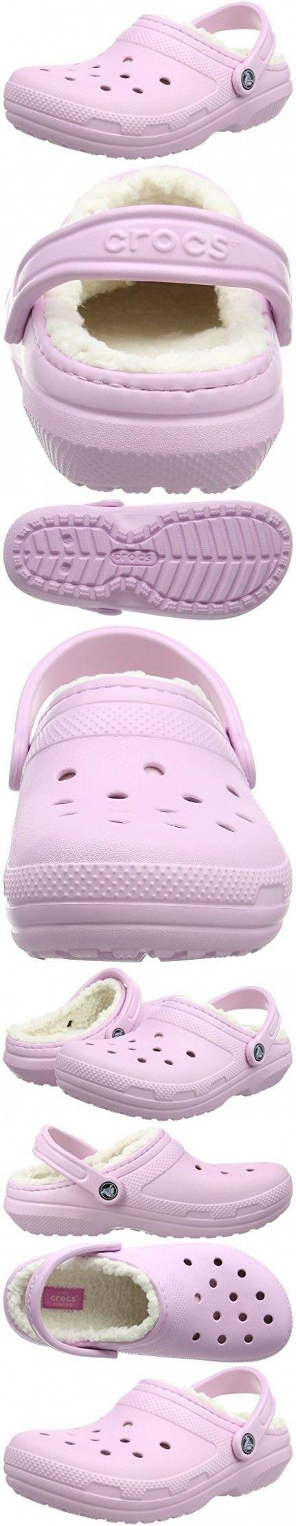 Crocs Women's Classic Lined Clog Mule, Ballerina Pink/Oatmeal, 8 US Men's/10 US Women's