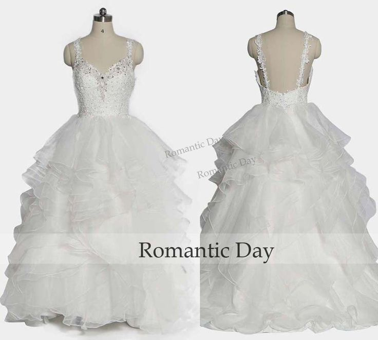 Pure White Ball Gown Wedding Dresses Ruffles Backless Appliques Beaded Lace Bridal Gowns 2016 0501