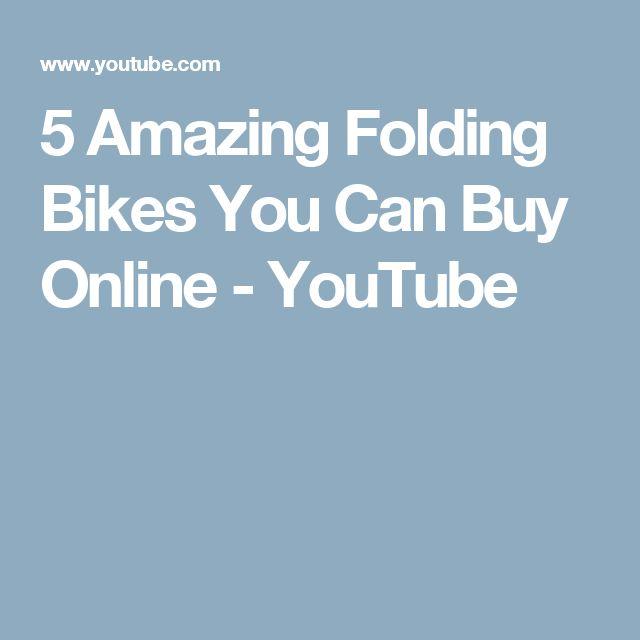 5 Amazing Folding Bikes You Can Buy Online - YouTube