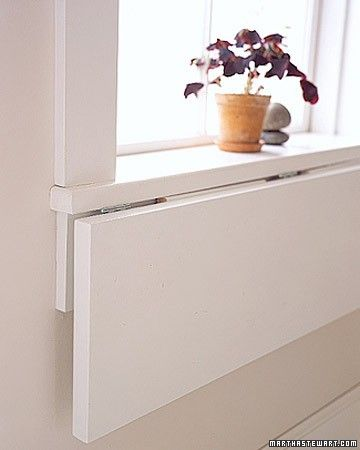 Our folding windowsill shelf is a smart way to create a temporary extension for displaying arrangements, frames, and more.