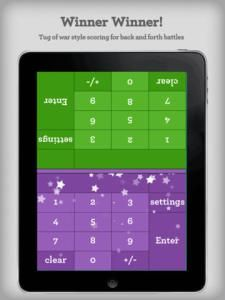 Math Duel - two players on the same device. Perfect for sharing iPads in the classroom.