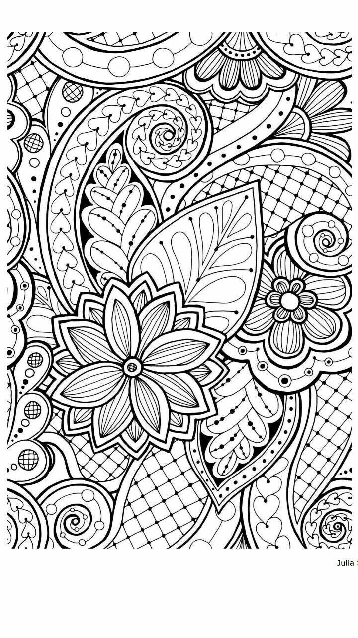 Pin by Jamie Arbogast on zentangle | Paisley coloring ...