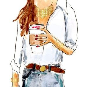 Happy  Hump  Day! Who's in desperate need of some coffee and jewels to get you through the week?!  Love this illustration by @evelynhenson for #maryfrancesflowers PSSST Check out the blog this morning for some of our favorite #wedding gift sets--just right for all your extra special ladies on your big day. (Think maid of honor, mother of the bride, flower girl, and even something for the bride to be!) #weddingwednesday #ontheblog #givemecoffee #butfirstcoffee #humpday