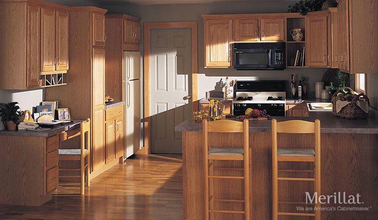 Merillat classic seneca ridge in oak natural merillat for Merillat kitchen cabinets