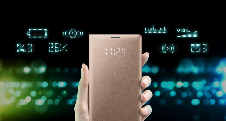 Galaxy Note 4 LED Flip Cover