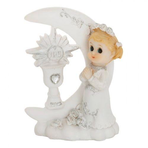 33d7179b6a338a Urocza figurka dziewczynki na tle księżyca i hostii doda finezji na każdym  komunijnym torcie! Figurka