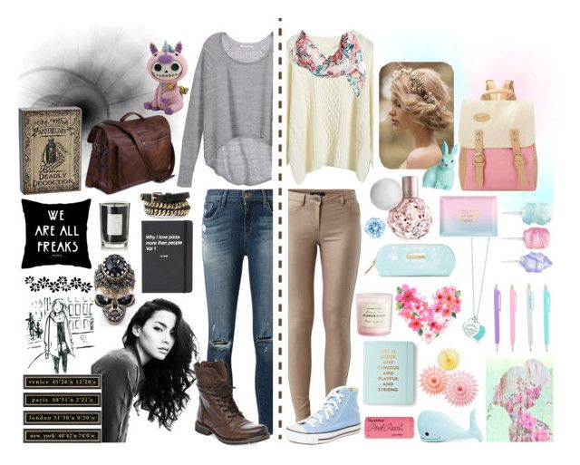 """""""Two worlds"""" by alzbeta-zlochova on Polyvore featuring Tiffany & Co., Steve Madden, Cotton Candy, H&M, Oliver Gal Artist Co., Coqui Coqui, Forever 21, Paper Mate, Kate Spade and Alexander McQueen"""
