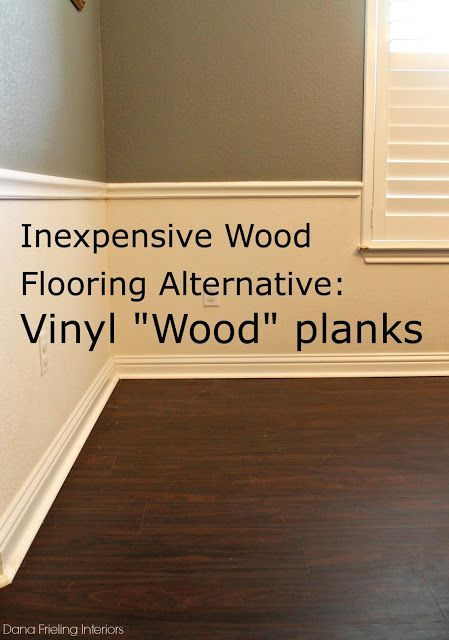 Inexpensive Wood Floor Alternative- good for basements or uneven subfloors  Rental Property