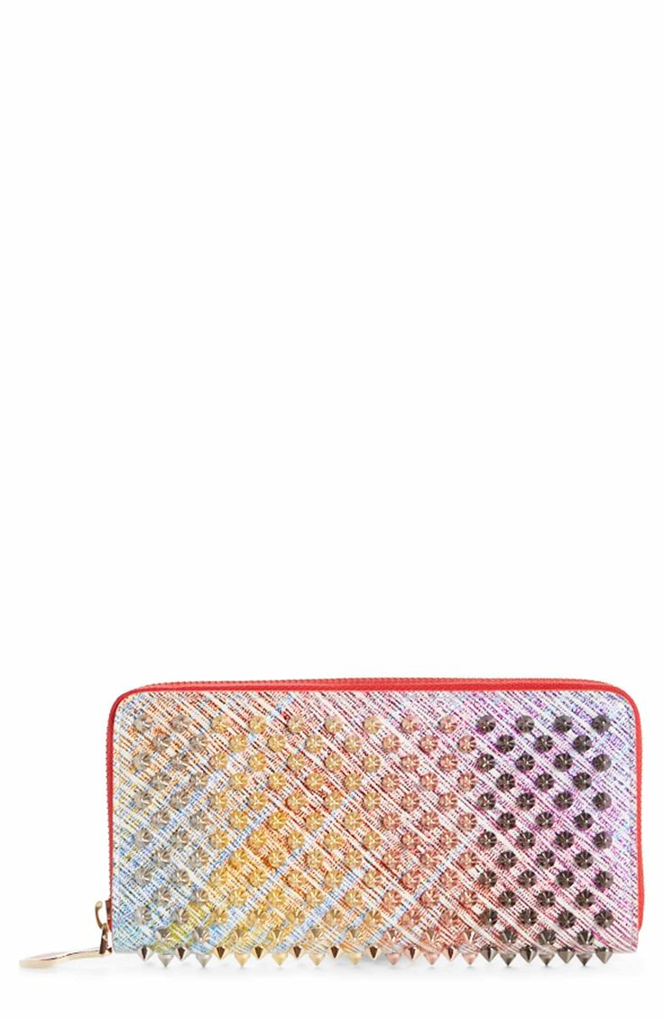 Main Image - Christian Louboutin Panettone Spiked Leather Wallet