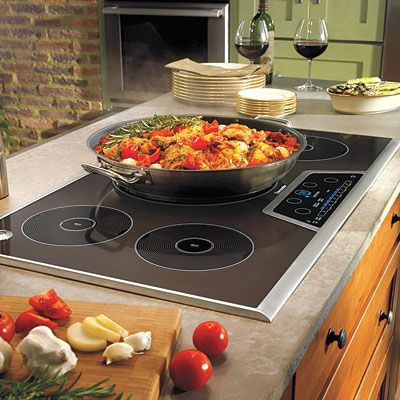 Love this Next-Gen Cook Top!  Induction uses an electro-magnetic field to heat stainless-steel or cast-iron cookware. It offers:  1. The ease of electric with the power and control of gas.  2. Faster and more energy-efficient heating than standard electric.  3. A cool-to-the-touch top that won't burn the kids.  4. A pro-grade cooktop in an island without running gas lines. Just add an outlet.