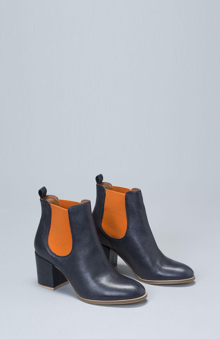 Hal Leather Ankle Boot - Elk | Elk