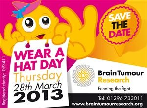 Wear A Hat in aid of brain tumour research - 28 March 2013