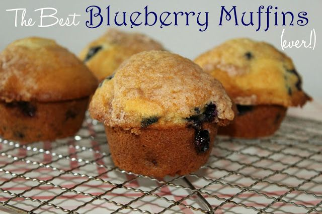 The best blueberry muffins ever!