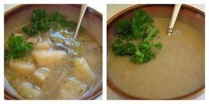 Roasted Garlic, Potato and Mushroom Soup