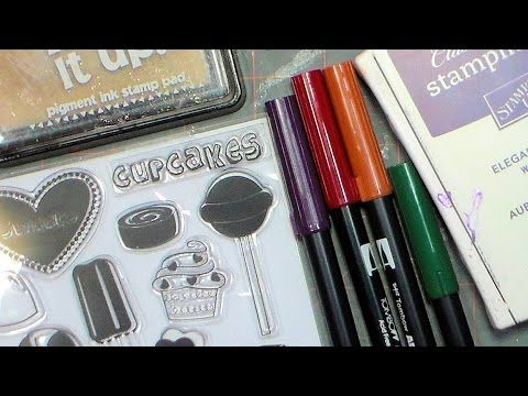 Tips for using cheap clear stamps with dye ink and markers PLUS embossing!