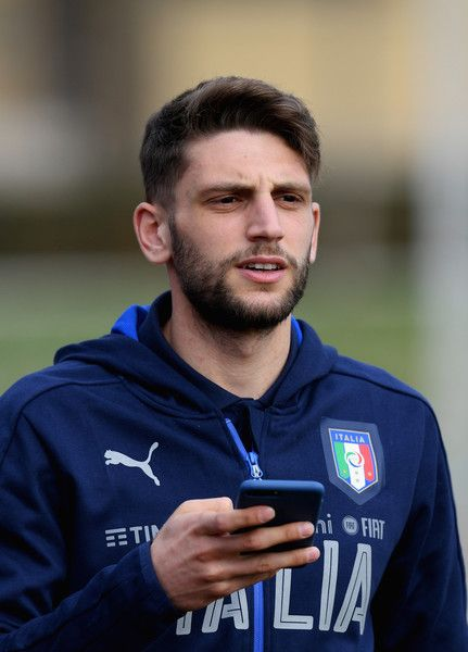 Domenico Berardi of Italy looks on prior to the training session at the club's training ground at Coverciano on February 22, 2017 in Florence, Italy.