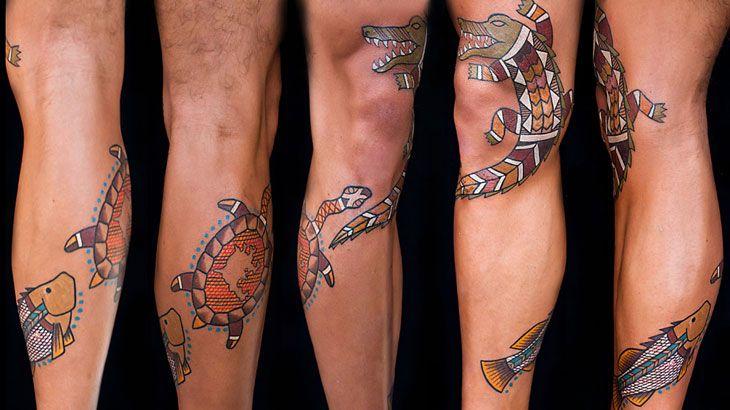 Half Sleeve Aboriginal Tattoo Design