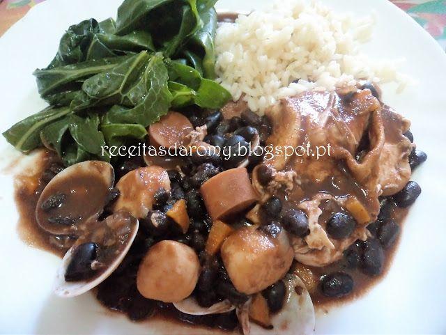 Receitas da Romy: Feijoada de feijão preto com pérolas do mar, salsi...
