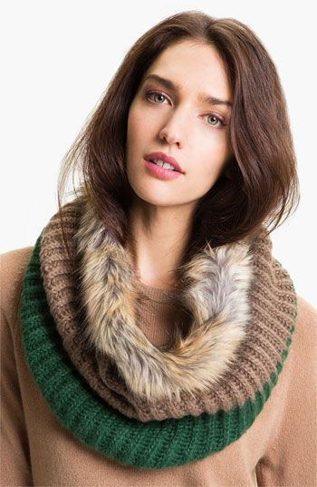 Big Buddha Faux Fur Infinity Scarf - looks so warm!