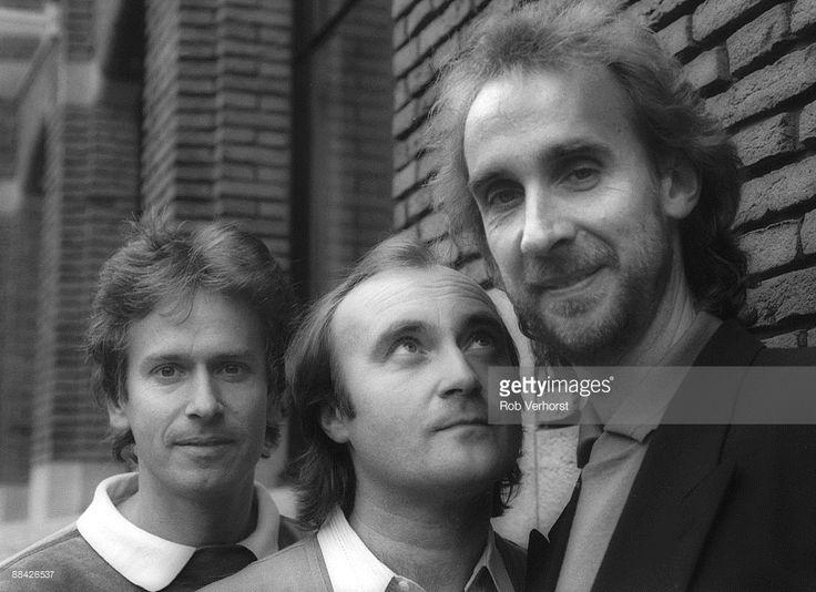 Photo of GENESIS; Genesis Amsterdam , v.l.n.r. Tony Banks, Phil Collins, Mike Rutherford