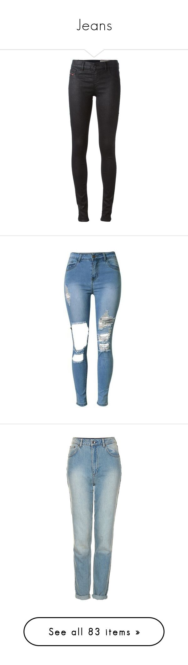 """Jeans"" by bambiie ❤ liked on Polyvore featuring jeans, pants, black, cut skinny jeans, skinny jeans, diesel jeans, skinny fit jeans, denim skinny jeans, bottoms and pantalones"