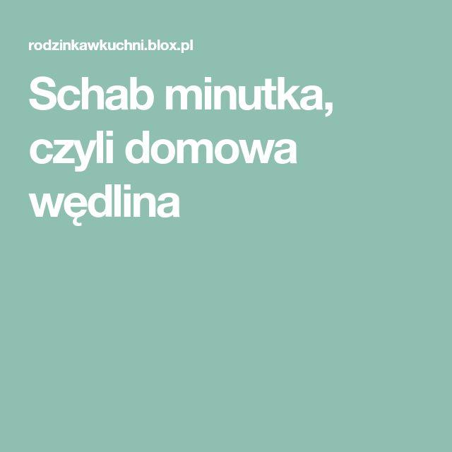 Schab Minutka Czyli Domowa Wedlina Cooking Recipes Food Cooking