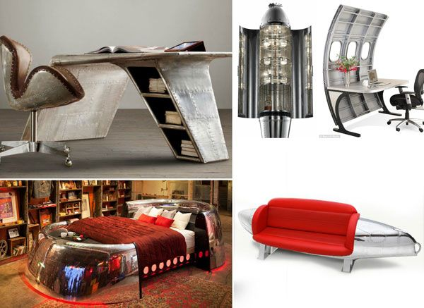 Best Unusual Furniture Ideas On Pinterest Diy Projects You - 20 unique pieces of furniture made from recycled airplane parts