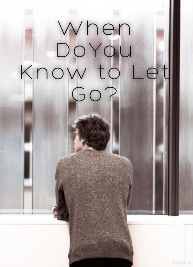When is the right time to let go? When I mean let go, I really mean to let go. To lead someone on, or let someone go on leading their own life, to stop holding on to someone even though it hurts li…