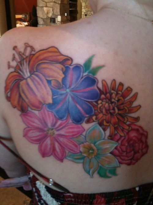 Image detail for -Birth Month Flower Tattoo