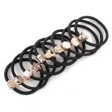 10 ks módní dívka Elastické Hair gumovém laně scrunchie Ponytail Holder Kapely hairband (Čína (pevninská část))
