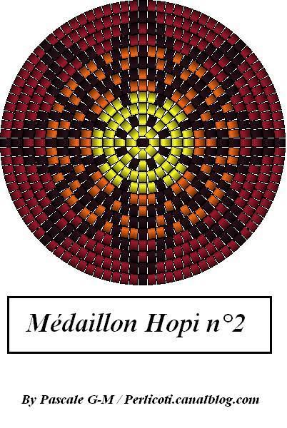 Peyote bead pattern Hopi